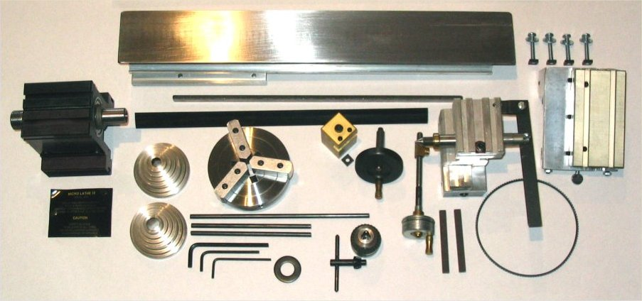 Taig Micro Lathe II Kit parts