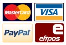 Mastercard, Visa card, Paypal and EFT